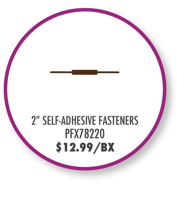 "PFX78220 Pendaflex 2"" Self-Adhesive Fasteners 2"" Capacity"