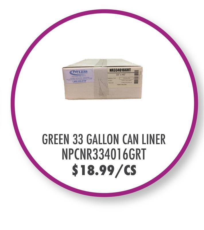 NPCNR334016GRT Green 33 Gallon Can Liner