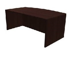 PAYS605FDW Express Office Status Series Bow Front Desk
