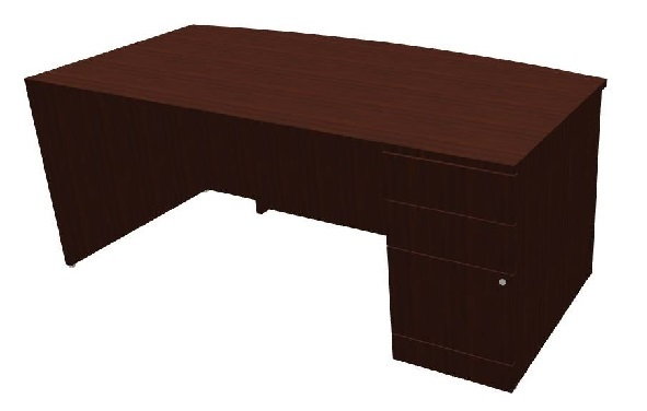 PAYZ3672FB3R Global Zira Bow Front Desk