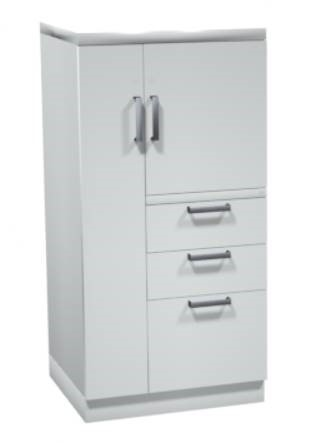 PAYSWTCBBFLMX49 3 Drawer Lateral Cabinet with Wardrobe Tower