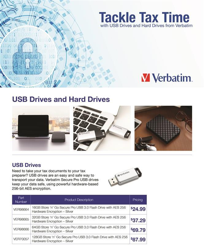 Tackle tax time with USB drives and hard drives from Verbatim