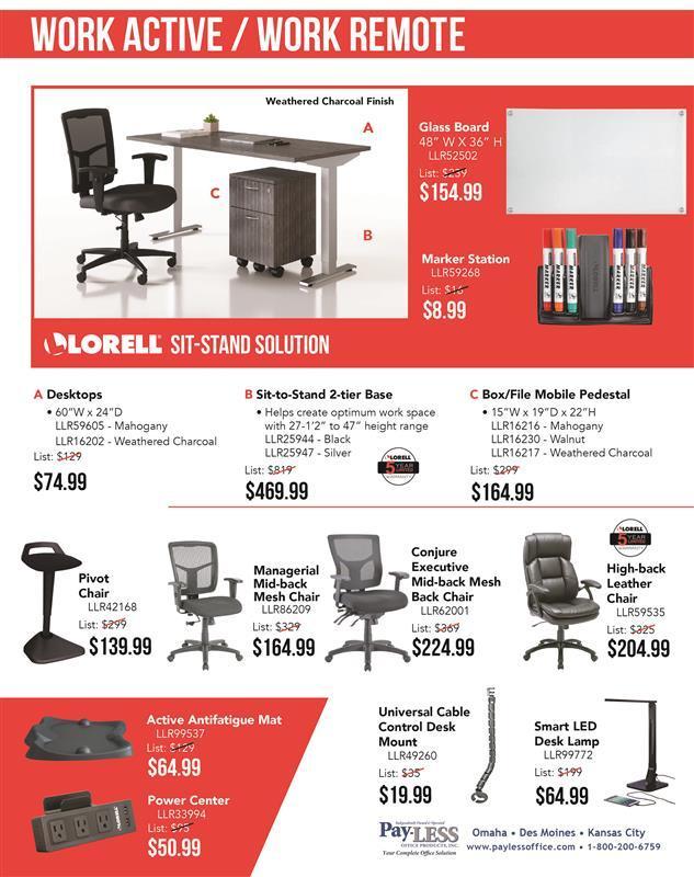 Work active work remote furniture flyer