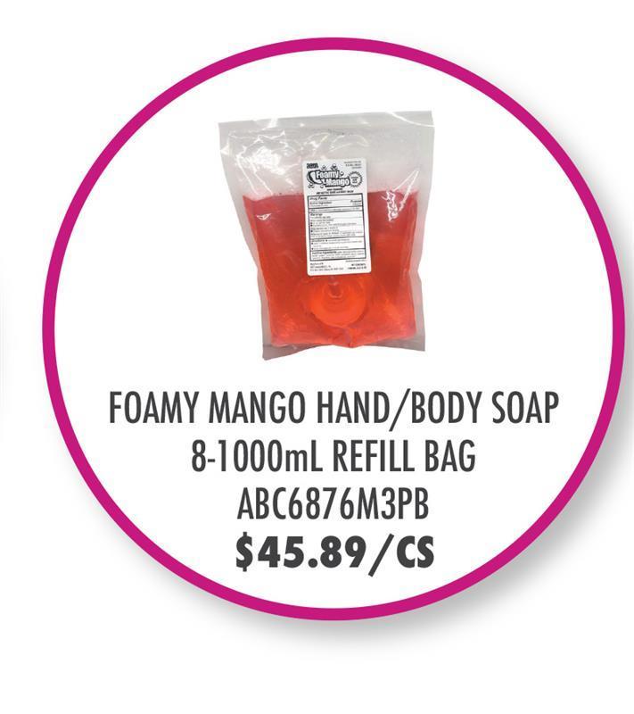 ABC COMPOUNDING FOAMING MANGO HAND/BODY SOAP,1L/8