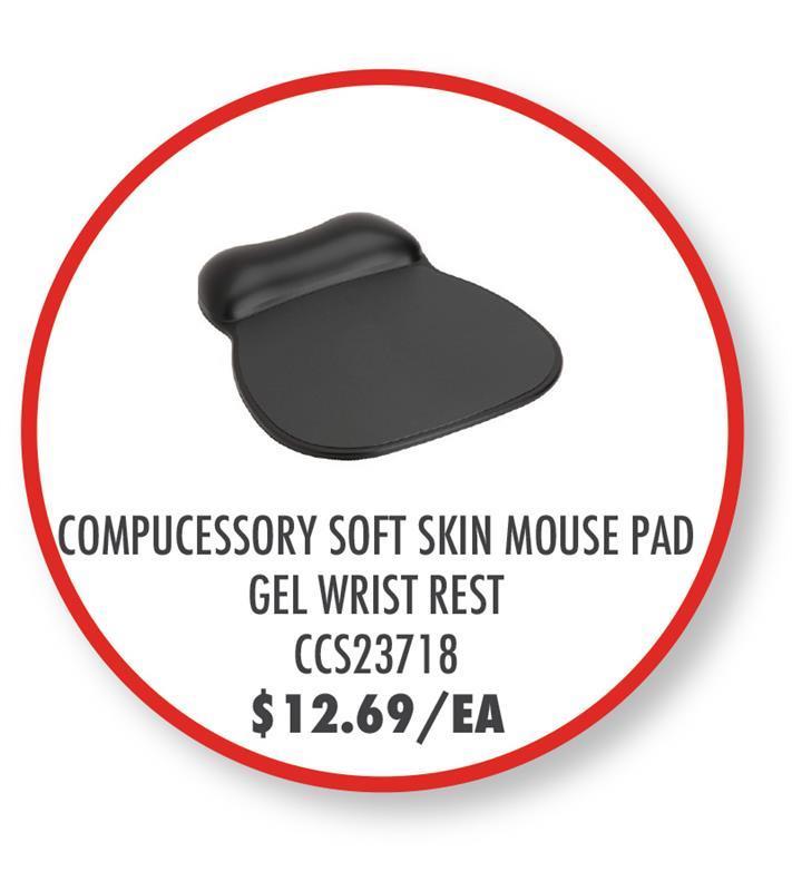 CCS23718 Compucessory Soft Skin Gel Wrist Rest & Mouse Pad