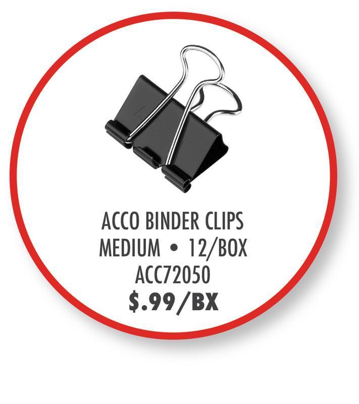 ACC72050 Acco Binder Clips
