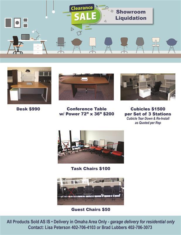 Furniture liquidation sale flyer