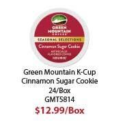 GMT5814 Cinnamon Sugar Cookie Coffee K- Cups, 24/ Box