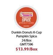 GMT7596 K-Cup Pods, Pumpkin Spice, 24/Box