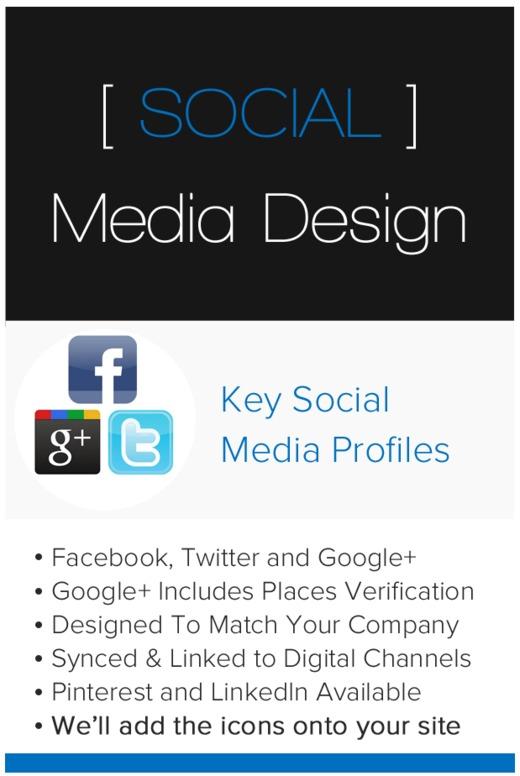 Facebook, Twitter & Google+ Profile Bundle