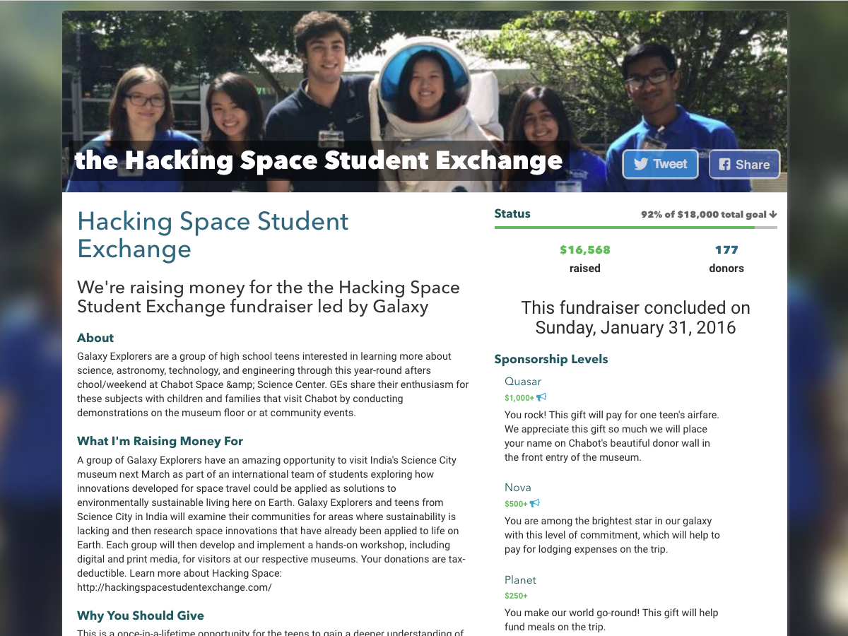 Hacking Space Student Exchange