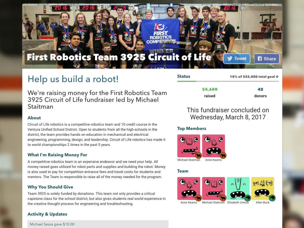 First Robotics Team 3925