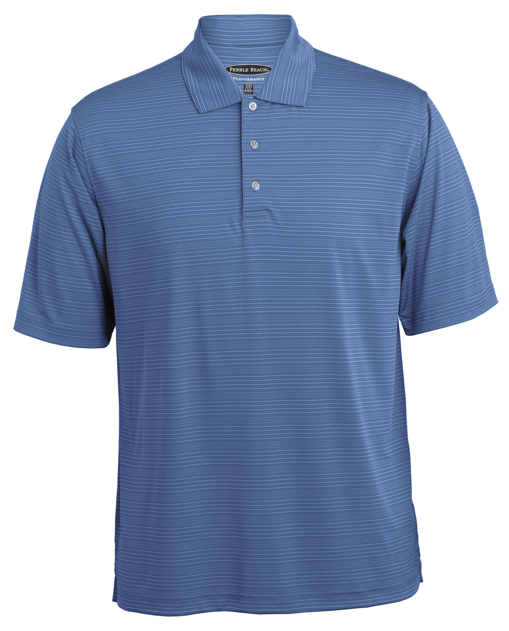 1b2b14146 Style 7449 - Tonal Stripe Polo Pebble Beach Corporate Apparel