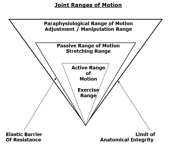 elastic/anatomical range of motion limits for joint