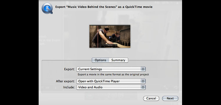 How To Export A High Resolution Movie Out of Final Cut Pro X - Select Settings