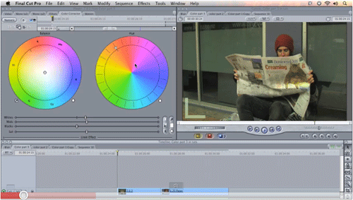 how to copy a color correction in final cut