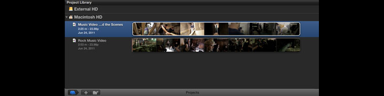 How To Export A High Resolution Movie Out of Final Cut Pro X - Select Project