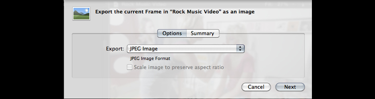 Chose the image file type