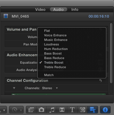 FCP X Audio Tutorial Part 4: Enhancing Audio Using Final Cut