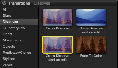 Free Final Cut Pro X Transitions and Effects from Alex4D: Dissolves Start and Finish