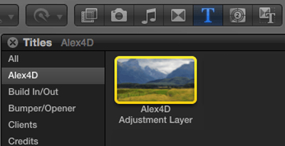 Adjustment Layer FCPX Free Effect
