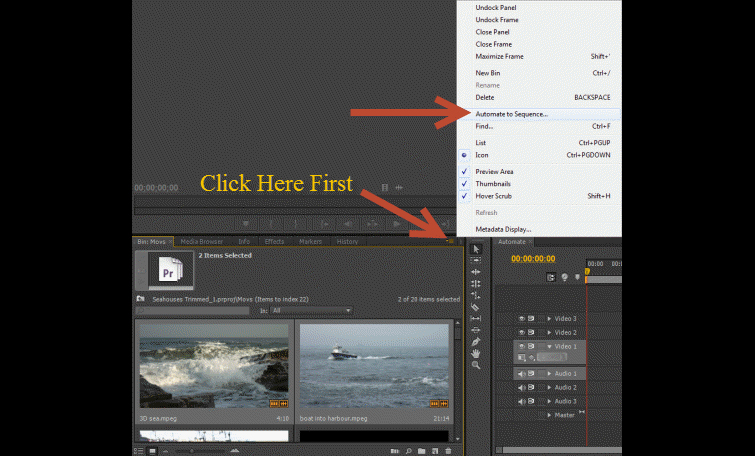 Premiere-Pro-Automate-to-Sequence-Panel-Menu-Option1