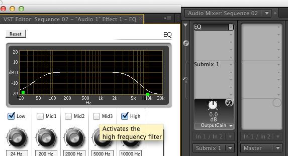 Adjusting Parameters of Audio Effect in Audio Mixer