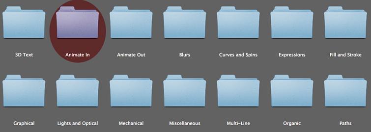 Animate In Folder