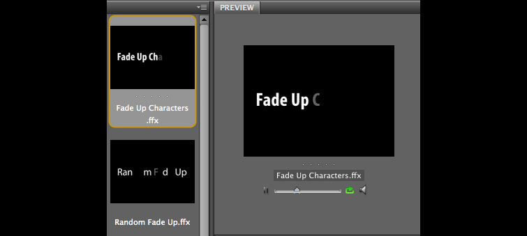 Animated Titles with Text Presets in After Effects: Fade Up Characters