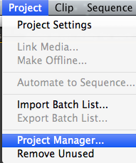 Project > Project Manager