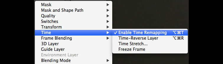 Speed Ramps & Freeze Frames in After Effects: Time Stretch
