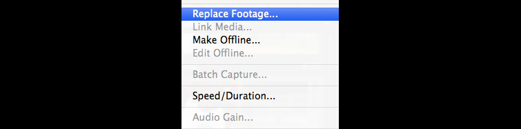 Replace Footage