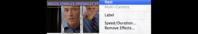 Nesting in Premiere Pro: Right-Click and Choose Nest