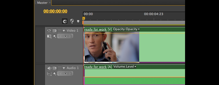Nesting in Premiere Pro: Nested in Master Sequence