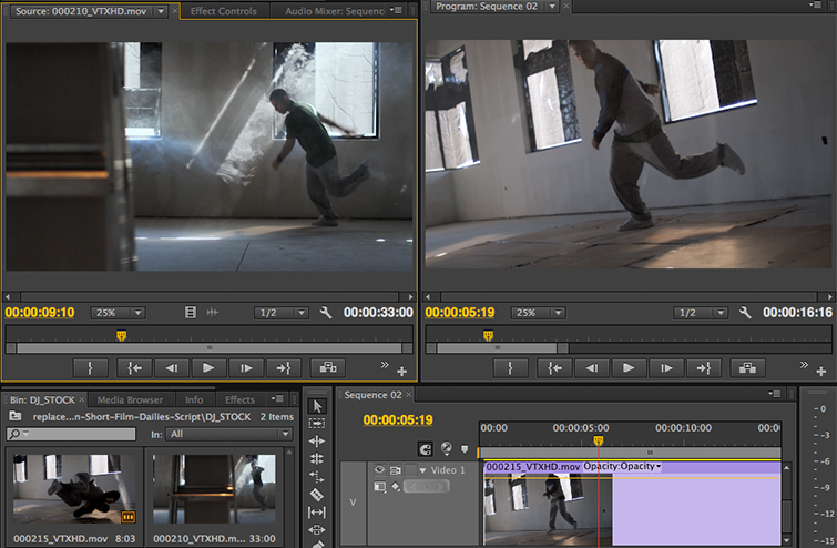 Video Editing Tip: Replacing Clips in Premiere Pro - Using Replace Edit Match Source Frame