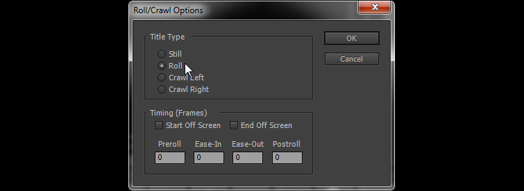 Selecting The Roll
