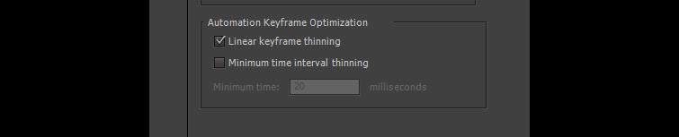 Automation Keyframe Optimization