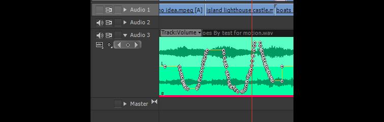 Using Premiere Pro's Audio Automation Modes - Default Keyframe Production