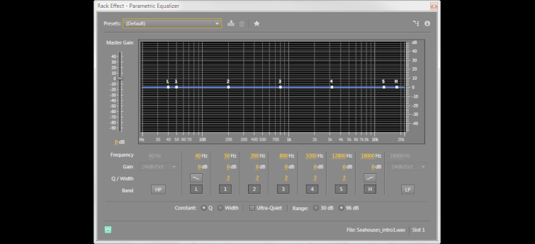 Parametric EQ in Audition