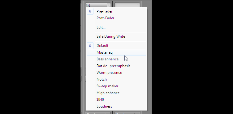 Presets for Premiere Pros EQ