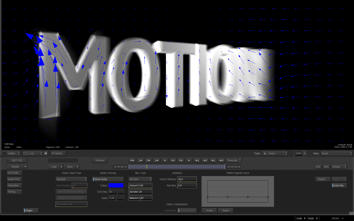 Smoke ConnectFX: Motion Blur & Motion Vectors - The Beat: A