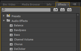 Premiere Pro Audio Effects