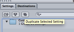 duplicate settings in compressor