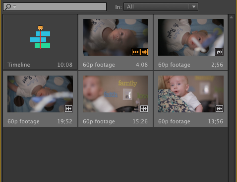 Premiere Pro close motion clips selected