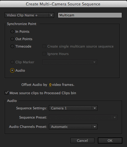 Multicam Sync to Audio
