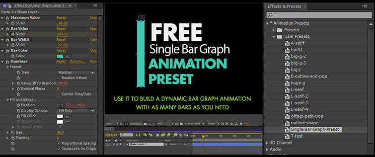 FREE Bar Graph Generator for Adobe After Effects