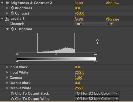 8 Bit Contrast Correction Adjustments