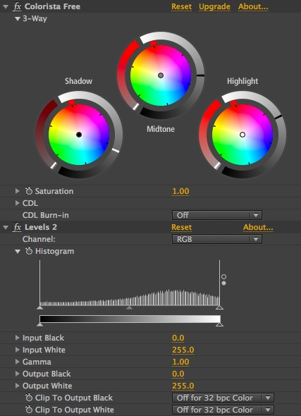 crunch adjustments and histogram