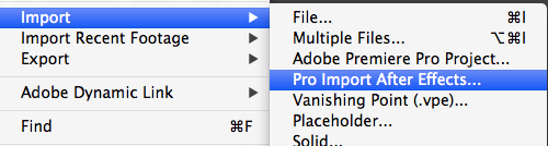Pro Import After Effects