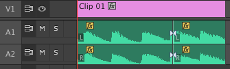 moving clips up and down tracks
